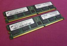 2 GB Crucial Kit Micron mt36vddf12872g-40bc3 PC3200 DDR1 400 Mhz ECC memoria del server