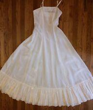 Vintage Slip Dress Boho Wedding - Ivory Floral Print - Ruffle Hem - Size XS -EUC