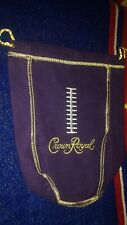 Crown Royal Bag Purple football Stitching Whiskey 750 ml Size - Good used Cond