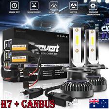 2X Mini H7 LED Headlight 55W 6000K Bulb Car Conversion Lamp & Error free Canbus