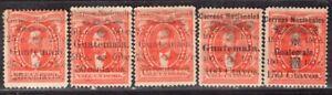 GUATEMALA 1886 STAMP Sc. # 26/30 MH