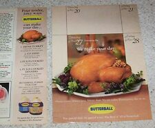 1997 ad page - Butterball Turkey Thanksgiving holiday vintage Print ADVERT