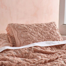 Linen House Somers Maple Pillow Sham Set | Made from detailed Cotton Chenille