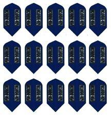 5 Sets Pentathlon Extra Strong Slim Dart Flights - Blue - Ships W/Tracking