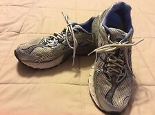 Womens Brooks Trance 10 Cross Trainer Shoes Size 9.5 Metallic Blue and Silver
