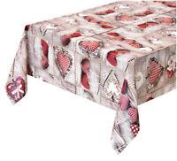 Tovaglia cucina ANTIMACCHIA cuori copri tavolo plastificata cerata più misure