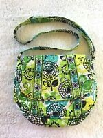 Vera Bradley LIMES UP Lizzy Crossbody Shoulder Purse Handbag Floral Hipster