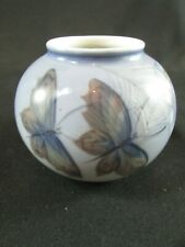 Royal Copenhagen Hand Painted Butterfly Vase #2340 c.1963