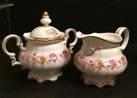 Hutschenreuther Selb Bavaria Germany US Zone Creamer and Sugar Bowl