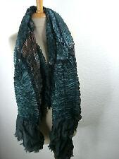 Pañuelo de seda seidenstola plisado Estola bufanda multicolor s-007