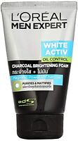 L'Oreal Paris Men Expert White Activ Oil Control Charcoal Foam,100ml Free Ship