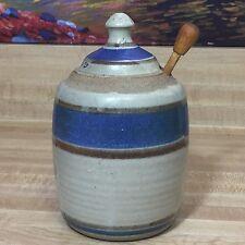 Vintage Steinhardt Gallery Rare Pottery Honey Jar by Artist Hollie Signed (A18)