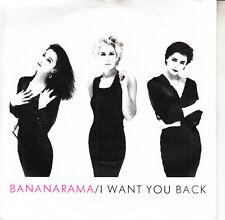 "BANANARAMA I Want You Back PICTURE SLEEVE 7"" 45 record NEW + jukebox title strip"