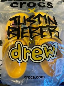 Justin Bieber Drew House x Crocs Size Men's 6 Women's 8  - IN HAND