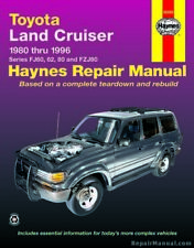 Haynes Toyota Land Cruiser 1980-1996 Auto Repair Manual : H92056