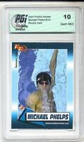 2004 Michael Phelps Rookie Review card PGI 10 Olympics GOAT