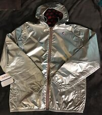 Daft Punk Pop-up Shop K-Way Metallic Silver Reversible Windbreaker Jacket Size L