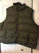 NWT CALVIN KLEIN JEANS Men's Puffer Vest Olive Army Green 4XL
