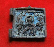 Ancient bronze religious artifact Russian Empire 18 century