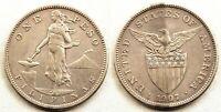 Filipinas-1 Peso 1907. Administracion Americana. EBC-/XF-. Plata 20 g.