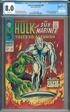 Tales To Astonish CGC 8.0 White Pages 1st Silver Surfer outside of Fanastic Four