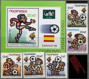 MOZAMBIQUE. 1982 SPAIN = SOCCER / FOOTBALL WORLD CUP + S/S MNH ?