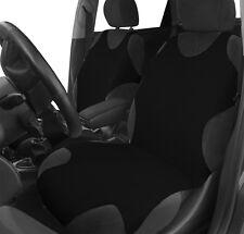 2 nero sul davanti cotone canotta Car Seat Covers Protettori Per FIAT 500X
