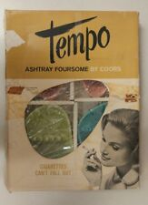 Vintage Tempo Ashtray Foursome! By Coors Porcelain Company! Unique old Items!