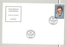 Guyana #4528 Elvis Presley 1v Hologram Foil on FDC