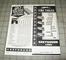 1954 Greyhound Portland Maine to Miami Florida Time Tables #1001