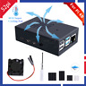 52Pi Raspberry Pi 4 Metal Case Enclosure Protective Box for RPi 4B with 4010 Fan