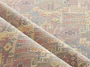 Kilim ethnic fabric upholstery tapestry southwestern boho decor blush by yard m