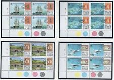 British Virgin Isles 1987 MNH 200th ANNIV OF POSTAL SERVICES CORNER BLOCK SET