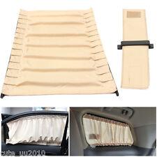 2 x Beige Adjustable VIP Auto Car Window Windscreen Mesh Style Curtain Sunshade