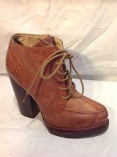 Aldo Brown Ankle Leather Boots Size 6
