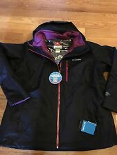 Columbia Women's Winter Ski Jacket Coat New Small S SM  3in1 Interchange Black