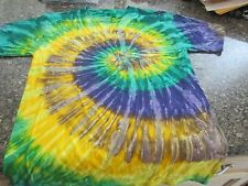 Tie-dyed T-Shirt - Small - Green/Yellow/Purple