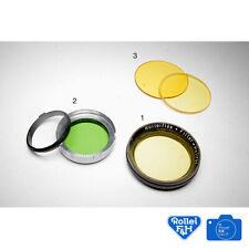 ROLLEIFLEX Filter - Hellrot 28.5mm Push On / Slip On Yellow Filter. Early Type