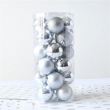 24pcs Bling Christmas Tree Ball Miniature Shiny & Matte Ornaments Decorations
