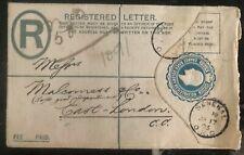 1903 Senekal Orange River Colony Registered Letter Cover To London England