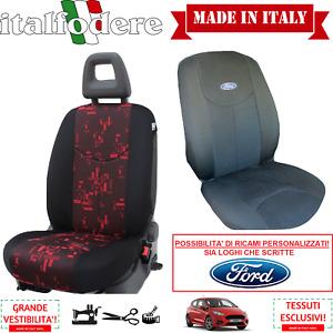 COPPIA COPRISEDILI Specifici FORD FIESTA (Tutti i Modelli) Foderine Rosso 35