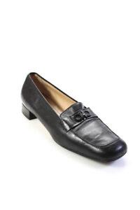 Salvatore Ferragamo Womens Loafer Shoes Black Size 11