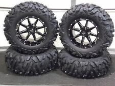"27"" QUADKING 14"" SLICER ATV TIRE & WHEEL KIT LIFE WARRANTY IRS1CA 520 BIGGHORN"