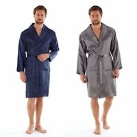 Harvey James Mens Lightweight Luxury Satin Kimono Dressing Gown Wrap M L XL 2XL