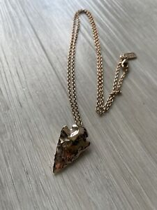 Pamela Love 14k Rose Gold Plated Arrow Head Necklace