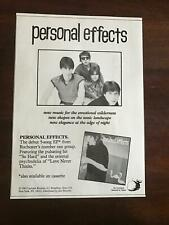 "1983 Vintage 7X10 Album Promo Print Ad For Rochester Group ""Personal Effects"" Ep"