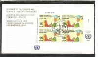 U.N Geneva # 223 Science And Technology ( Inscription Block Of 4 ) FDC. UNPA