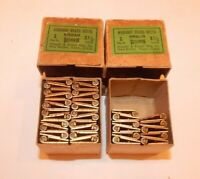 """38 - RUSSELL & ERWIN  Mfg. Co. 1.5"""" Wrought BRASS Butt Cabinet Hinges   (NOS)"""