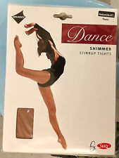 "NEW Silky's Women's Dance Shimmer Stirrup Tights - Toast - Medium (36-42"")"