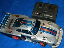 vintage PORSCHE 1-1S martini RACING voiture commande RC RADIO CONTROL CAR shell